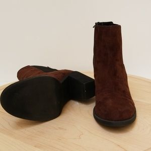 114bfd42983 H & M Ankle Boots Brown Suede Size 6